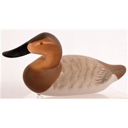 Charlie Joiner Wood Carved Canvasback Duck Decoy