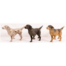 Collection Of 3 Cast Iron Hunting Dog Doorstops