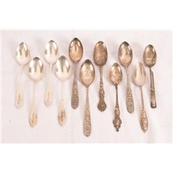 Collection Of 11 Souvenir Spoons Texas Centennial