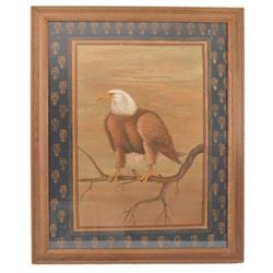 Bald Eagle Painting On Cloth