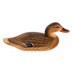 Charlie Joiner Carved Mallard Hen Duck Decoy
