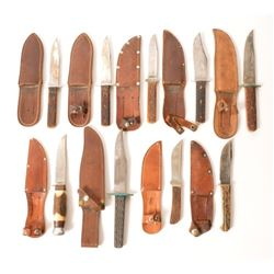 Collection Of  Stag Handled Knives