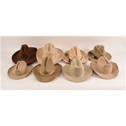 Large Collection Of Old Stetson Cowboy Hats
