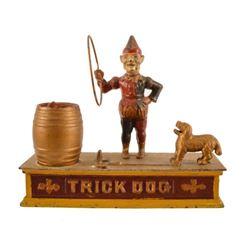 Antique Trick Dog Cast Iron Mechanical Bank