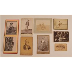 Collection Of Antique Cabinet Card Photographs