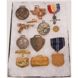 Collection Of Trap Shooting Medals & Watch Fobs