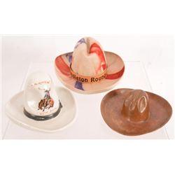 Collection Of 3 Souvenir Hats Pendleton Round Up