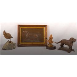 Collection Of 4 Vintage Hunting Motif Items