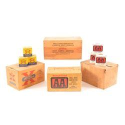 Vintage Western 20 Gauge Ammo Wood Crate Full