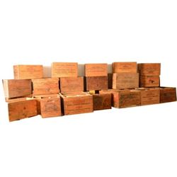 Large Collection of Wooden Ammo Crates Winchester