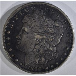 1890-CC MORGAN DOLLAR XF RIM BUMPS