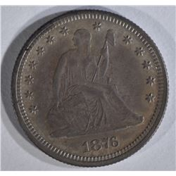 1876 SEATED LIBERTY QUARTER CH PROOF