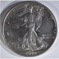 1933-S WALKING LIBERTY HALF XF+