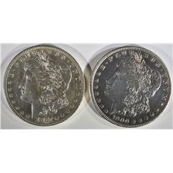 1887-O, & 1900-O MORGAN DOLLARS AU/BU