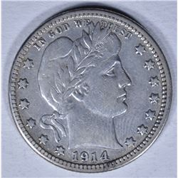 1914-S BARBER QUARTER XF