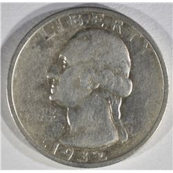 1932-S WASHINGTON QUARTER VF