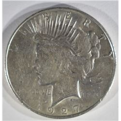 1927-D PEACE DOLLAR XF/AU