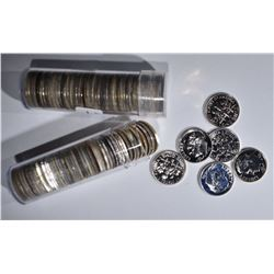 100-SILVER PROOF DIMES: DATES 1956-64