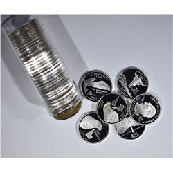 ROLL OF PROOF SILVER 2007-S STATE QUARTERS