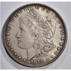 1878 7F MORGAN DOLLAR, AU/UNC
