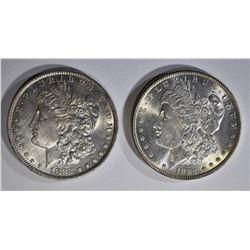 1882-O & 1884 CH BU MORGAN DOLLARS
