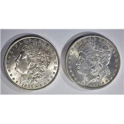 1883-O & 1884-O CH BU MORGAN DOLLARS