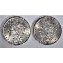 1882 & 1883 CH BU MORGAN DOLLARS