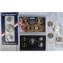 1993 SILVER PROOF SET, 1976 3pc SILVER