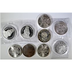 9-ONE OUNCE .999 SILVER ROUNDS
