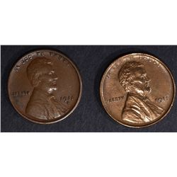 1911 AU & 1911-S XF LINCOLN CENTS