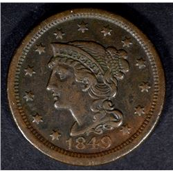 1849 LARGE CENT XF NICE