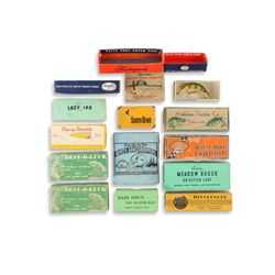 Mixed Lot of 16 Vintage Lure Boxes