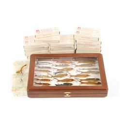 Lot of Celluloid Lures and Balaird Company Boxes