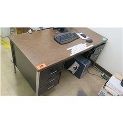 5-Drawer Desk w/Metal Legs