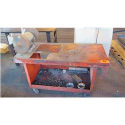 Rolling Metal Work Table w/ Electric Grinder