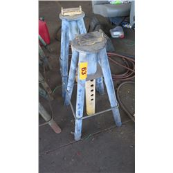 Qty 2 Adjustable Jack Stands, Heavy Duty