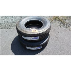 Qty 2 BF Goodrich Commercial All Season 2 Tires (LT245/75R17 and LT225/75R17)