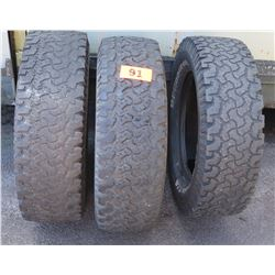 Qty 3 BF Goodrich Toyo Tires - LT245/70R17