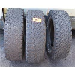 Qty 3 BF Goodrich Toyo Tires - LT245/70R17