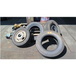 Qty 5 Misc. Tires: BF Goodrich, Bridgestone, etc. (Various Sizes & Types Listed Below)