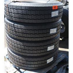 Qty 4 Michelin XZA2 Energy Tires 315/80R22.5 - Recap