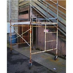 Metal Scaffolding on Wheels