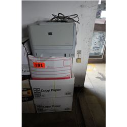 HP Laserjet P2035 Printer & 2.5 Boxes of Printer Paper