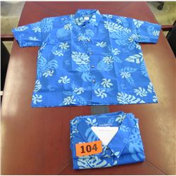 Qty 2 Blue Island Traditions of Hawaii Women's Aloha Print Shirt (Size 4X)