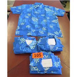 Qty 2 Blue Island Traditions of Hawaii Women's Aloha Print Shirt (Size 2X)