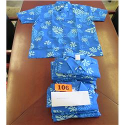 Qty 15 Blue Island Traditions of Hawaii Women's Aloha Print Shirt (Size S)