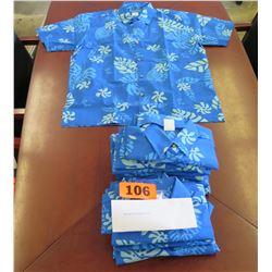 Qty 15 Blue Island Traditions of Hawaii Women's Aloha Print Shirt (Size S)