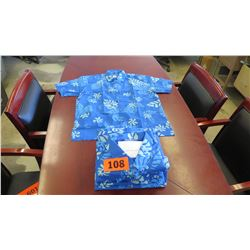 Qty 8 Blue Island Traditions of Hawaii Men's Aloha Print Shirt (Size 4X)