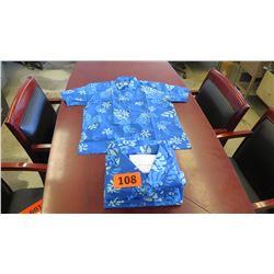 Qty 8 Blue Island Traditions of Hawaii Men's Aloha Print Shirt (Size 4X)