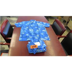 Qty 4 Blue Island Traditions of Hawaii Men's Aloha Print Shirt (Size 3X)